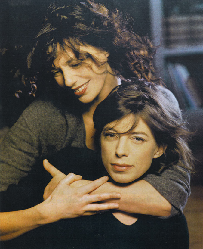 Jane Birkin and Kate Barry
