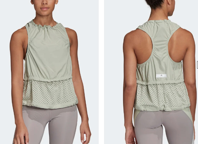 ADIZERO LOOSE TANK TOP by STELLA McCARTNEY